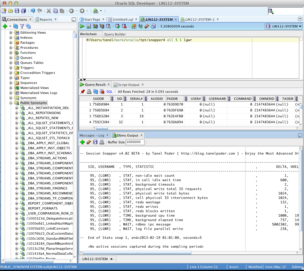Snapper 4 inside SQL Developer